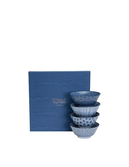 rinascente TOKYO design studio Nippon Blue Tayo Bowl Giftbox 4Pcs 15.2X6.7Cm 500Ml