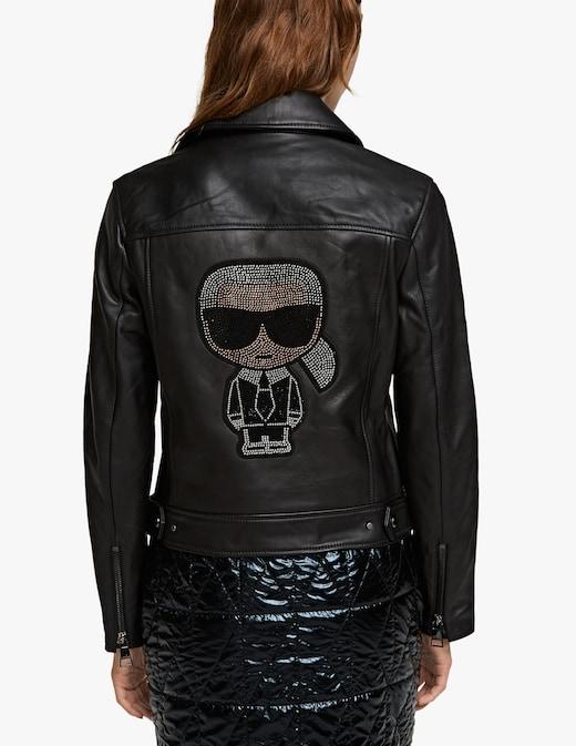 rinascente Karl Lagerfeld Giacca biker con strass