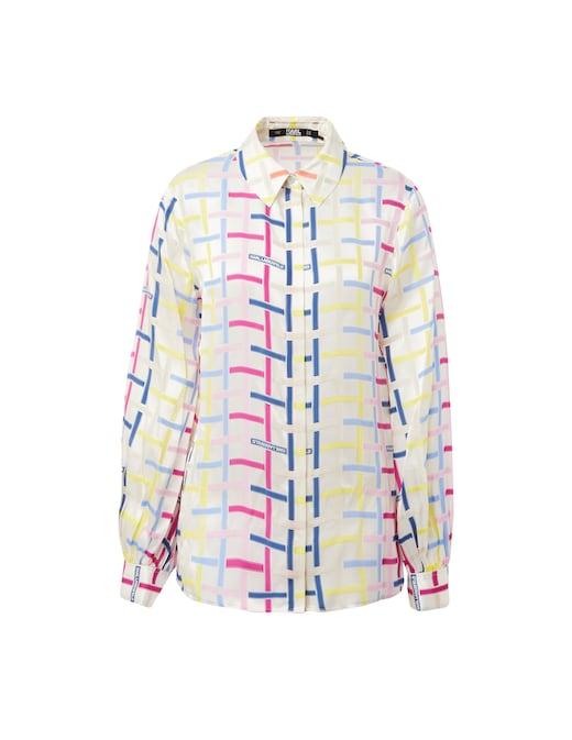 rinascente Karl Lagerfeld Silk printed Kl Check shirt