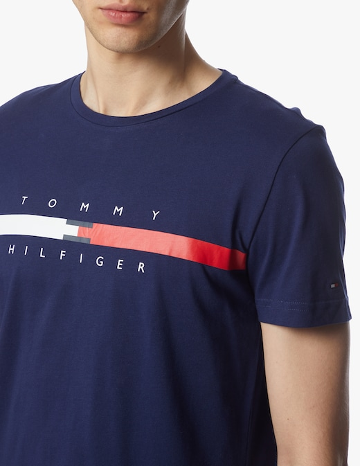 rinascente Tommy Hilfiger Crewneck t-shirt scritta stripe