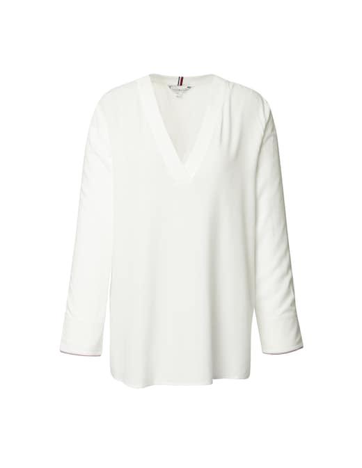 rinascente Tommy Hilfiger V neck tre quarters blouse