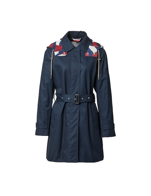 rinascente Tommy Hilfiger Cotton hooded trench