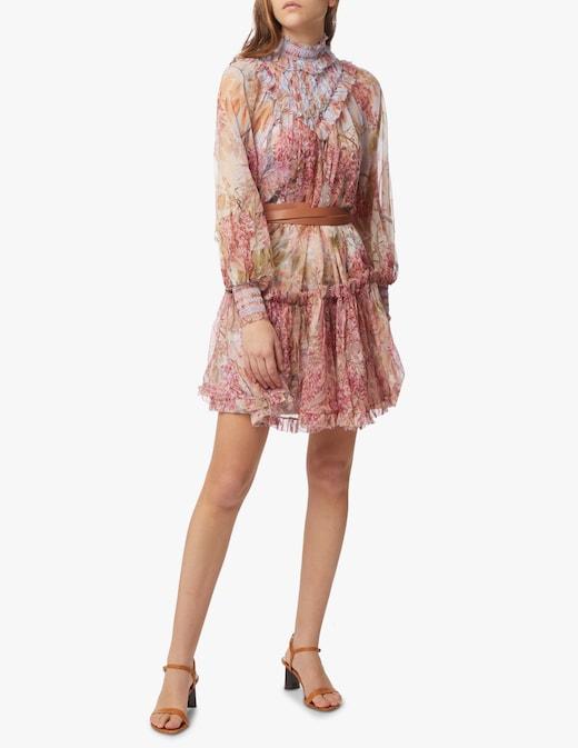 rinascente Zimmermann Vestito mini in seta Botanica