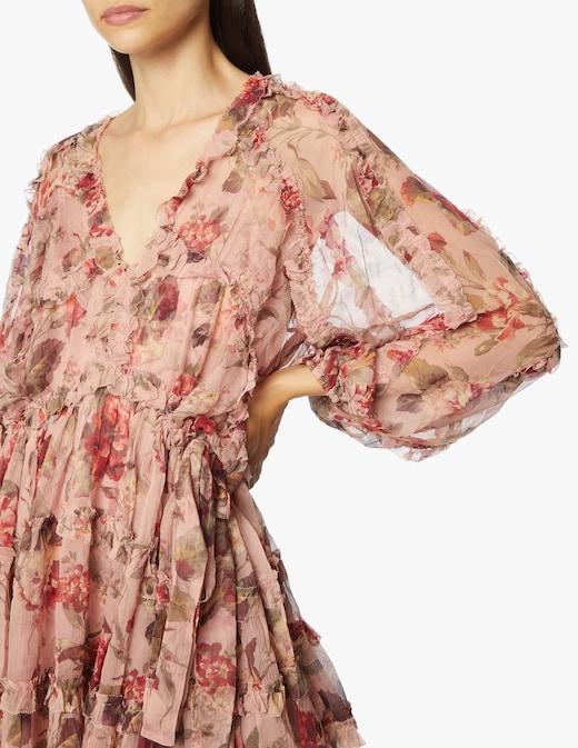 rinascente Zimmermann Silk long sleeved minii dress Cassia