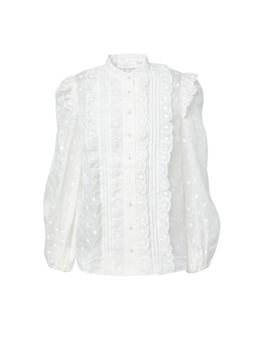 rinascente Zimmermann Ramie shirt with printed polka dots Mae