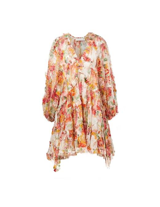 rinascente Zimmermann Silk long sleeved mini dress Mae