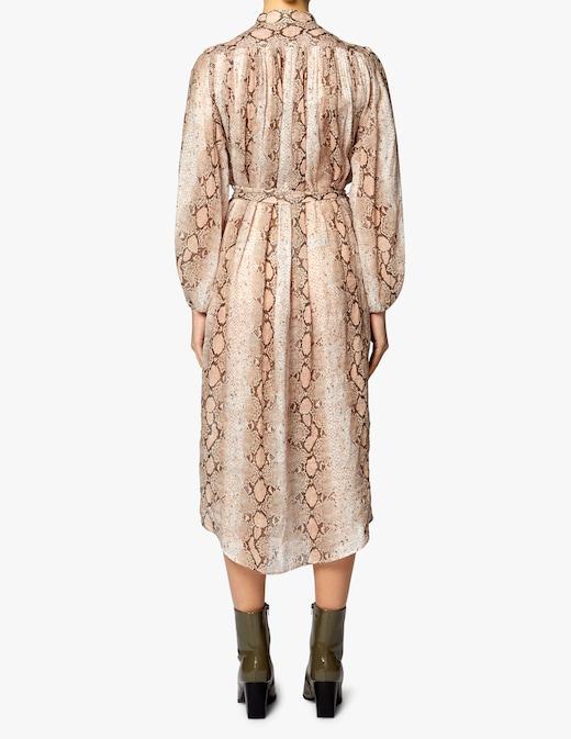 rinascente Zimmermann Long dress with python stamp