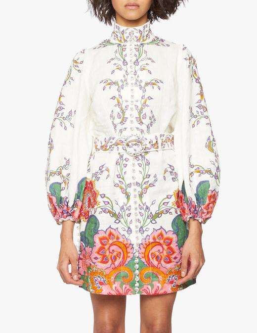 rinascente Zimmermann Lovestruck buttoned tunic dress