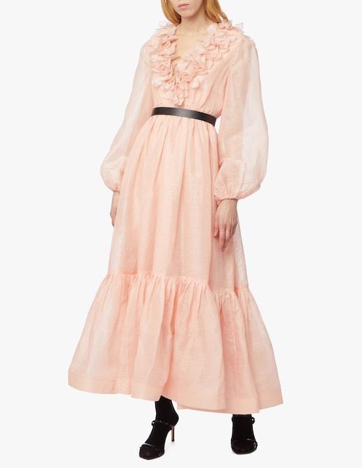 rinascente Zimmermann Lovestruck Garland midi dress