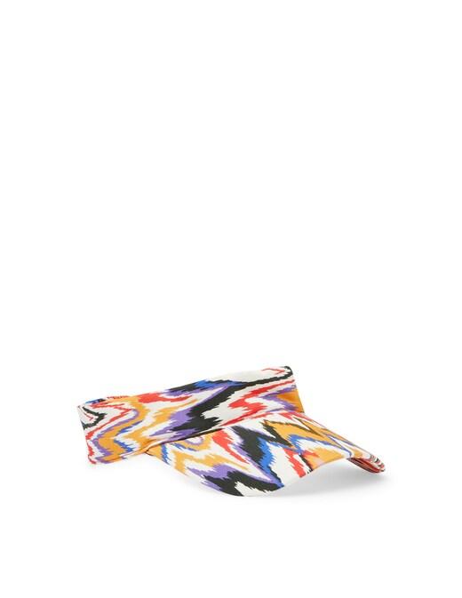 rinascente Missoni Cappello zigzag con visiera in cotone